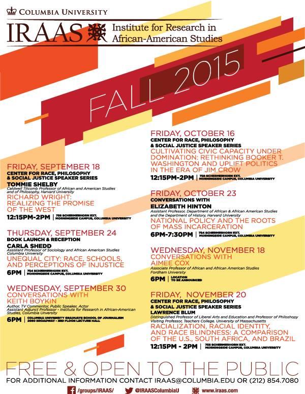IRAAS 2015 Fall Calendar